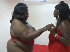 BBW Ebony Lesbians Pleasure Each Other